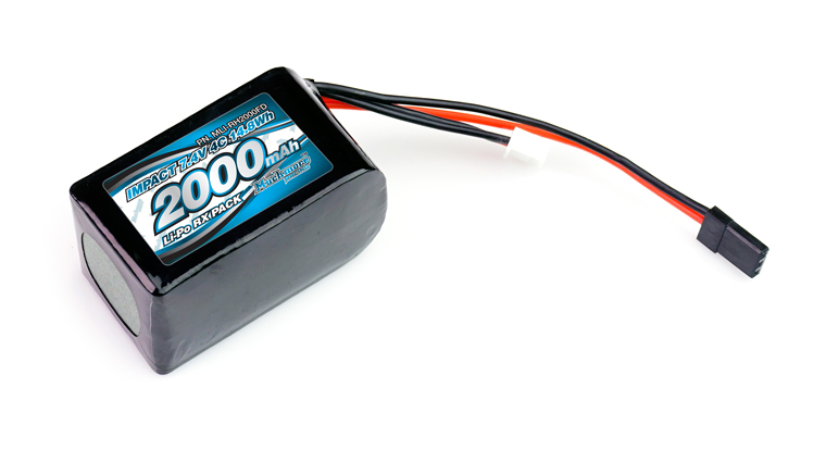 MLI-RH2000FD IMPACT Li-Po Battery 2000mAh/7.4V 4C Hmp Size for Receiver