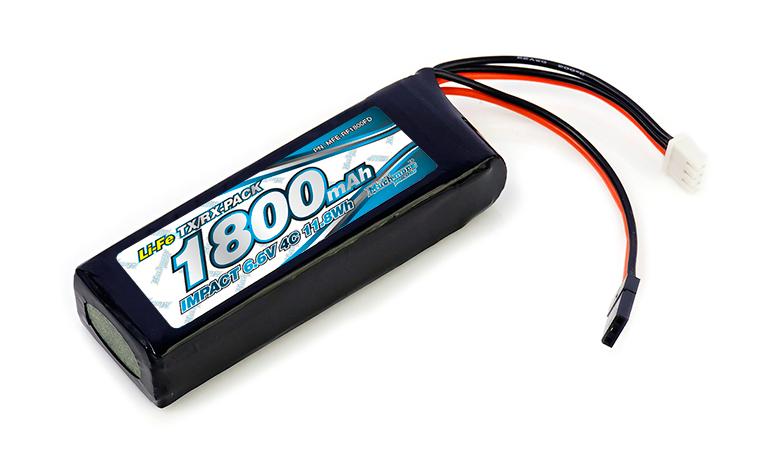 MFE-RF1800FD IMPACT Li-Fe Battery 1800mAh/6.6V 4C Flat Size for Tx & Rx
