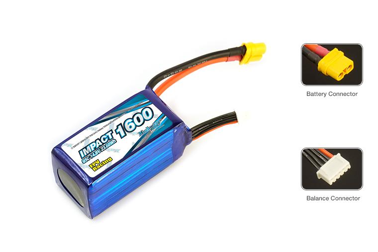 FPV-4S1600FD3 IMPACT Linear FPV FD3 Li-Po Battery 1600mAh/14.8V 95C