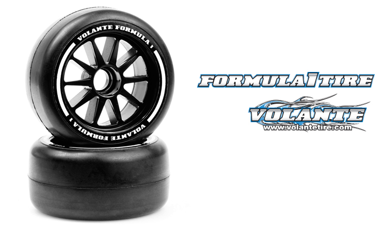 VOLANTE F1 Front Rubber Slick Tires Preglued