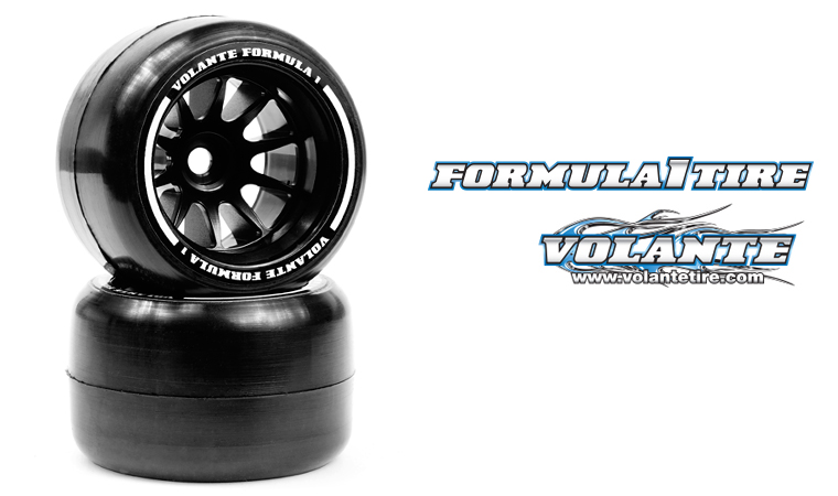 VOLANTE F1 Rear Rubber Slick Tires Preglued
