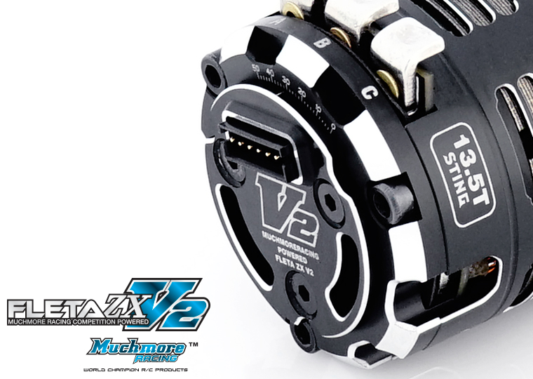 FLETA ZX STING V2 Brushless Motor (10.5T, 13.5T, 17.5T, 21.5T) by Muchmore Racing Co., Ltd.