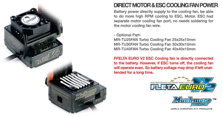ME-FLEV2 FLETA Euro V2 Brushless ESC Black FLETA Euro V2 ブラシレスESC ブラック仕様 by Muchmore Racing Co., Ltd.