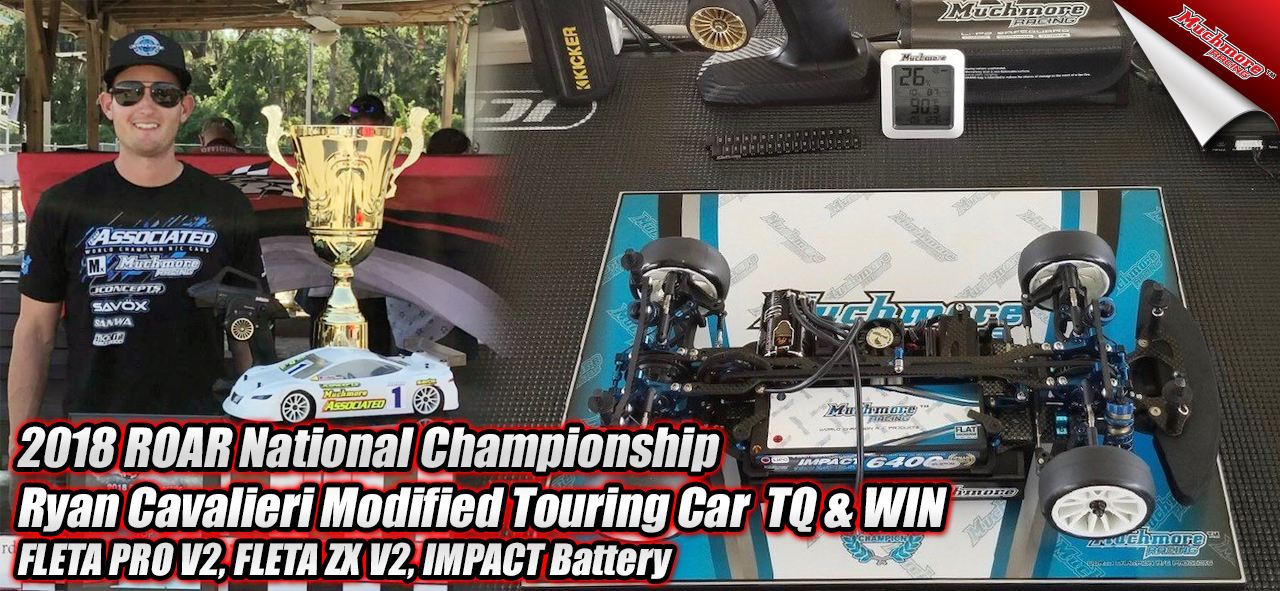 2018 ROAR National Championship Ryan Cavalieri Modified Touring Car  TQ & WIN