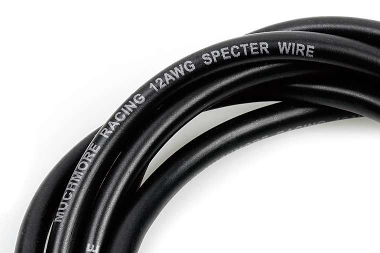 MR-SPWK12 SPECTER Silver Coting Ultra High Efficiency Silicone Wire 12AWG Black 1m SPECTER シルバーコーティング超高効率シリコンコード 12ゲージ 黒