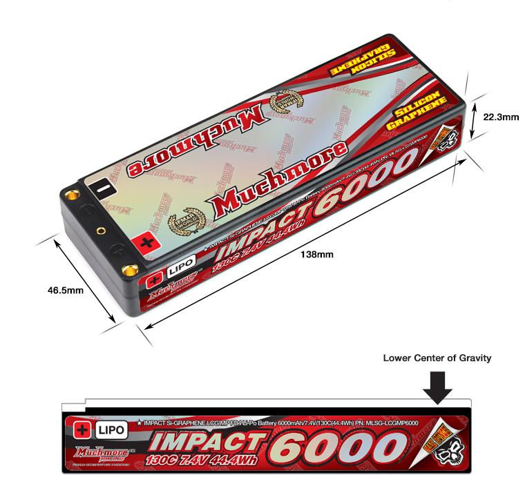 MLSG-LCGMP6000 IMPACT [Silicon Graphene] LCG Max-Punch FD4 Li-Po Battery 6000mAh/7.4V 130C Flat Hard Case