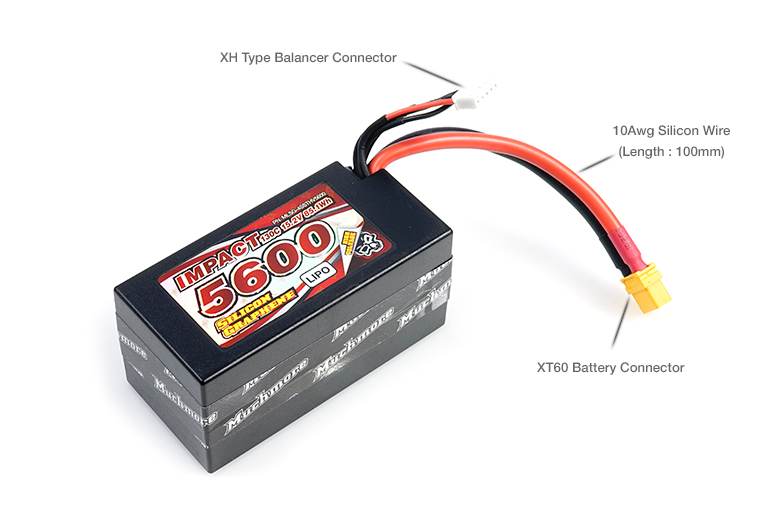 MLSG-4SSTHV5600 IMPACT [Silicon Graphene] HV FD4 5600mAh/15.2V 130C Shorty Hard Case