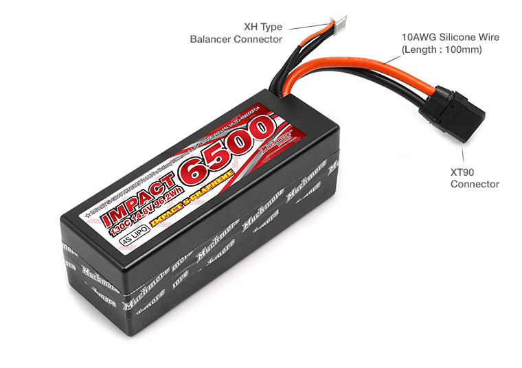 MLSG-4S6500FD4 IMPACT Silicon Graphene FD4 Li-Po Battery 6500mAh/14.8V 130C XT90 Wire Hard Case