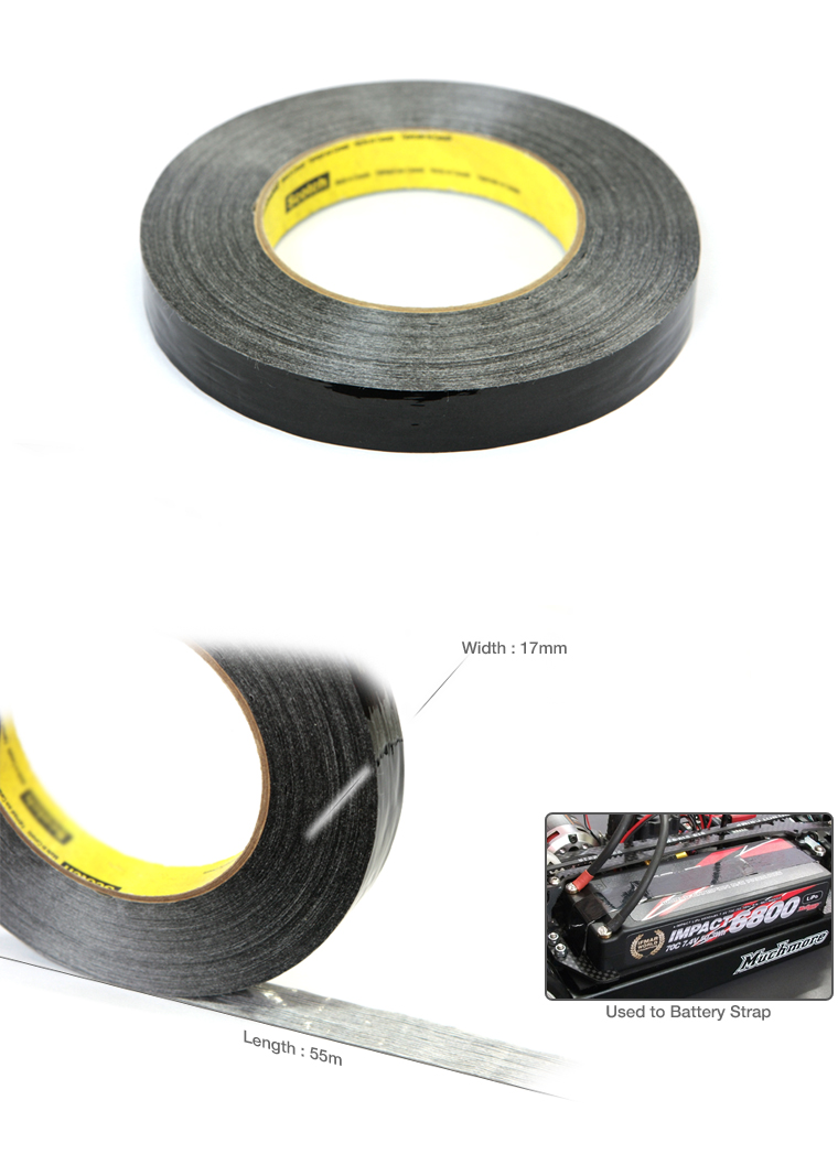 Strapping Tape (Black) 55m x 17mm by Muchmore Racing